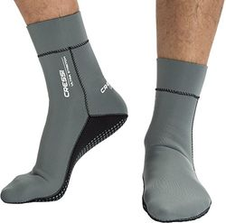 Cressi Ultra Stretch Neoprene Socks Neoprensocken, Grau/Weiß, Small