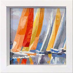 International Graphics - Postal enmarcada - Laurence, Mauviel - ''Tavonata''- 16 x 16 cm - Marco disponible en 4 colores - Color del marco: Blanco - Serie LUNA