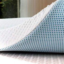 subrtex Cojín de enfriamiento de Espuma de Memoria de Gel de 3 Pulgadas extraíble con Cubierta de bambú Ajustable, viscoelástica 7,5 cm, Blanco, 135 x 190 cm