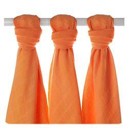 xkko bmb07 0014 a 3 Pack bambú pañales para montar, quiroprácticos, como base o ligero techo, pañales, 70 x 70 cm), color naranja