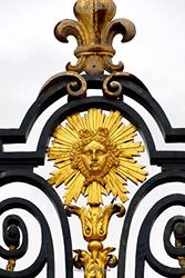 Golden Royal Fence Detail Versailles France Journal: 150 Page Lined Notebook/Diary