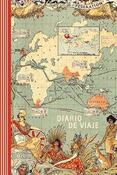 Diario de Viaje: Mapa del Mundo Gran Bretaña Libro de Registro Viajes - Cuaderno de Recuerdos de Actividades en Vacaciones para Escribir, Dibujar - Cuadrícula de Puntos, Bucket List, Dotted Journal A5