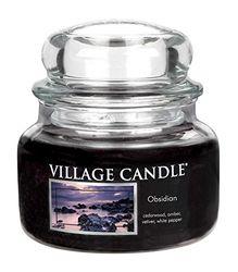 Village Candle Obsidiaan glazen pot, zwart, klein