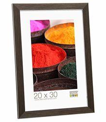 Fotolijst grootte (foto): 60 cm H X 40 cm B, kleur: bruin