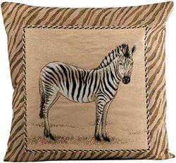 Sprügel - Afrika Zebra - Bunt - Rückseite beige - Kissenhülle - 45/45cm
