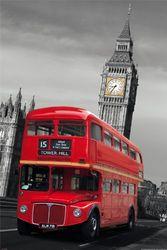 Empire 499417 MDF Sheet Londen City Kleurlamp Rood Bus 60 x 90 cm