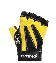 Sting M1 Magnum, Unisex Volwassen Handschoenen, Fitness, unisex_adult, Nero/giallo fluo, S