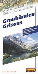 Graubünden Panoramakarte: Ausflugsziele, Sehenswürdigkeiten (Hallwag Panoramakarten)