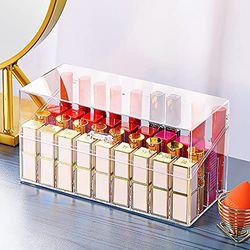TreeBud Lippenstift-Halter mit Deckel, 36 Fächer, großer Durchmesser, transparenter Lippenstift-Organizer, Display-Ständer, Kosmetik-Organizer für Lippenstift, Pinsel, Flaschen und mehr