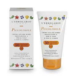 L'Erbolario PICCOLOSOLE Sonnencreme für Kinder-Gesicht & Körper LSF50+, 1er Pack (1 x 75 ml)