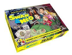 Swan & neo - mon escape box - panique dans le train fantôme - escape game enfants - de 2 a 6 joueurs