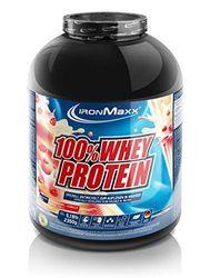 IronMaxx Ironmaxx Sabor Vainilla Fresa 100% Polvo Proteína De Suero 2.35 Kg En Lata 2350 g