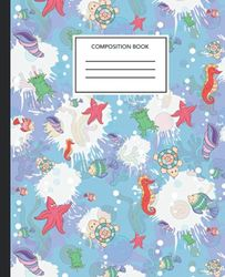 seahorses Composition Notebook: Wide Ruled Paper Notebook Journal | seahorses Nifty Wide Blank Lined Workbook for Teens Kids Students Girls for Home School College for ... | Cute seahorses Notebook