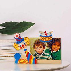 Dida Fotolijst clown trommel - fotolijst van hout met clown - liggend formaat - 220 g