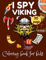I Spy Viking Coloring book for kids