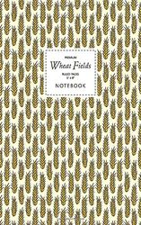 Wheat Fields Notebook - Geleide Pages - 5x8 - Premium: (Golden Edition) Fun notebook 96 gelijnde / gelinieerde pagina's (5x8 inch/12,7x20,3cm / Junior Legal Pad / Nearly A5)
