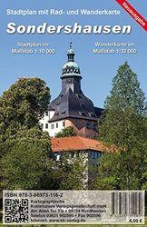 Sondershausen: Stadtplan mit Wanderkarte