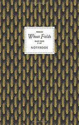 Wheat Fields Notebook - Ruled Pages - 5x8 - Premium: (Night Edition) Fun notebook 96 gelijnde / gelinieerde pagina's (5x8 inch/ 12,7x20,3cm / Junior Legal Pad / Nearly A5)