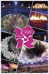 1art1 61713 Olympische Spelen Poster - Londen 2012, openingsceremonie, 91 x 61 cm