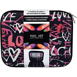 Manicure and Lak Set - Make-up Pad Love - 58 stuks - Geschenkdoos, kerstcadeau, cadeau voor vrouwen, make-up doos