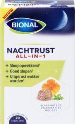 Bional Nachtrust all-in-1 – Helpt in te slapen – Natuurlijk voedingssupplement – 20 capsules