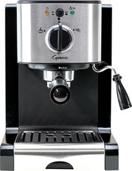 Capresso - EC100 Espresso Machine with 15 bars of pressure, Milk Frother and Thermoblock heating system - Black/stainless steel