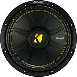 """KICKER - CompC 10"""" Single-Voice-Coil 4-Ohm Subwoofer - Black"""