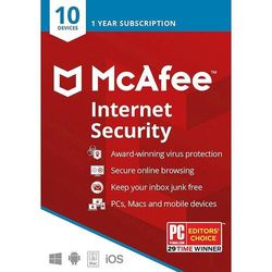 McAfee - Internet Security (10 Device) (1-Year Subscription)
