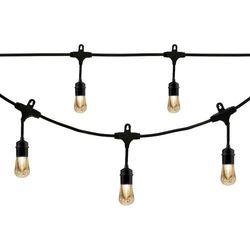 Enbrighten - Café Vintage Series LED Lights (12 feet/6 bulbs) - Black
