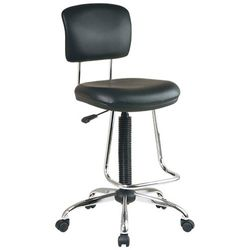 Office Star Products - WorkSmart Drafting Chair - Black