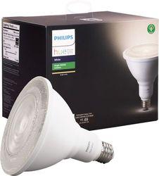 Philips - Outdoor Hue White PAR-38 Smart LED Bulb - White