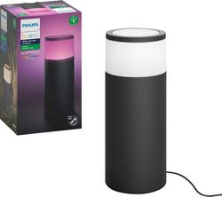Philips - Hue White and Color Ambiance Calla Outdoor Pathway Light Extension Kit - Black