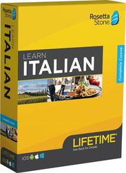 Rosetta Stone - Learn UNLIMITED Languages with Lifetime access - Italian - Android, Mac, Windows, iOS