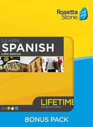 Rosetta Stone - Spanish Bonus Pack (Latin America) (Lifetime Subscription) - Android, Mac, Windows, iOS