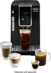 De'Longhi - DINAMICA Espresso Machine with 15 bars of pressure and Milk Frother - Black/Stainless