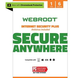 Webroot - Internet Security Plus + Antivirus Protection – Software (6 Devices) (1-Year Subscription) - Mac, Windows