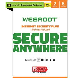 Webroot - Internet Security Plus + Antivirus Protection – Software (6 Devices) (2-Year Subscription) - Mac, Windows