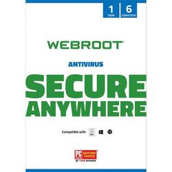 Webroot - Antivirus Protection and Internet Security – Software (6 Devices) (1-Year Subscription) - Mac, Windows