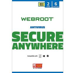 Webroot - Antivirus Protection and Internet Security – Software (6 Devices) (2-Year Subscription) - Mac, Windows