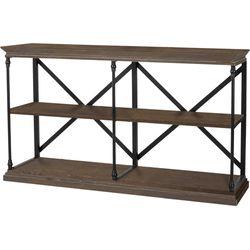Noble House - Alcova Industrial 3-Shelf Bookcase - Dark Khaki