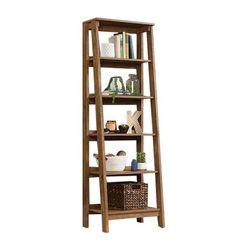 Sauder - Trestle Collection 5-Shelf Bookcase - Vintage Oak