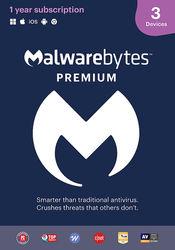 Malwarebytes - 4.0 Premium (3-Devices) - Android, Mac, Windows