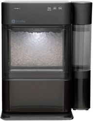 GE Profile - Opal 2.0 24-lb. Portable Ice maker with Nugget Ice Production, Side Tank and Built-in WiFi - Black stainless steel