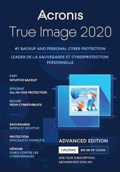 Acronis - True Image 2020 Advanced (1-Year Subscription) - Mac, Windows
