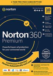NortonLifeLock - 360 Premium (10-Device) (1-Year Subscription with Auto Renewal)