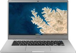 "Samsung - Geek Squad Certified Refurbished 15.6"" Chromebook - Intel Celeron - 4GB Memory - 32GB eMMC Flash Memory - Platinum Titan"