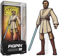 "CMD Collectibles - Star Wars: Clone Wars - Obi-Wan 3"" Collector FigPin"
