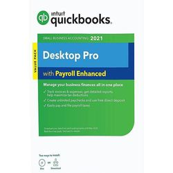 Intuit - QuickBooks Desktop Pro 2021 with Payroll Enhanced - Windows