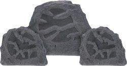 Sonance - MAG Series - 2.1 Outdoor Rock Speaker System - Charcoal Gray Granite