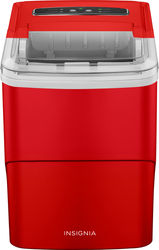 Insignia™ - 26 Lb. Portable Icemaker with Auto Shut-Off - Red